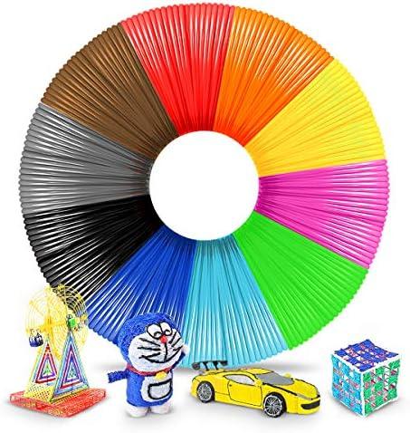 SUNLU 3D Pen Filament 3D Printer Filament 1 75mm PLA Filament Total 10 Colors 17 Feet Each Color product image