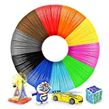 3D Pen Filament 1.75mm,PLA Filament Refills for 3D Pen/3D Printer,3D Pen Filament Compatible 3D Printing Pen,10 Colors 5M/16 Feet,PLA Multicolor 1.75MM