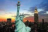 1art1 New York - Freiheitsstatue Und Skyline Bei