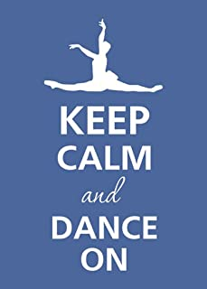 Rectangle Refrigerator Magnet - Keep Calm and Dance On Female Ballerina Ballet Jumping