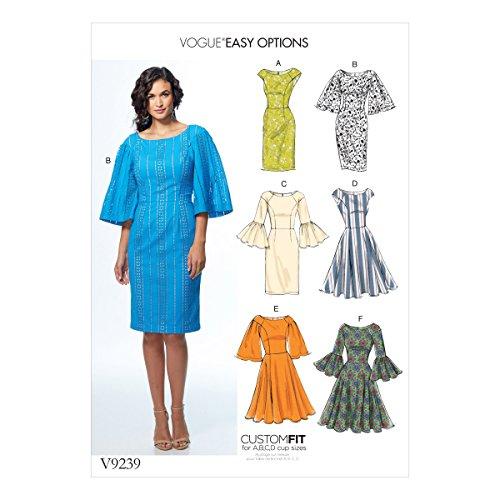 Vogue Patterns Oeillets Tissu Robes, Multicolore, Tailles 14–22