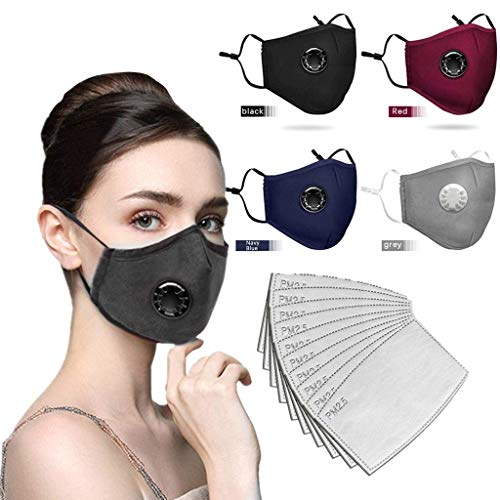 Mode Bequeme Maske Staubdichte Winddichte Nebel Dunst kann Filtermaske setzen (Mehrfarbig)