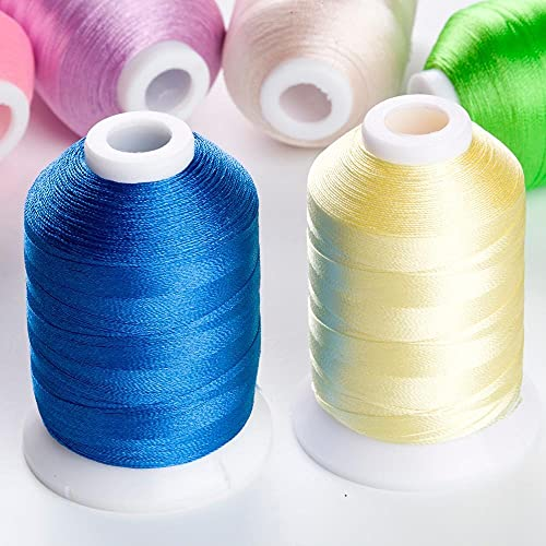Multi-purpose Available machine embroidery threads 1100 Yards 2 Spools Kit for DIY Embroidery Thread Cross-Stitch (Color : Remark Color Number)