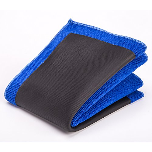 FMS Clay Tuch Mikrofasertücher 30 x 30 cm Spezial Reinigungstuch zur Lackpflege, Lackreinigung, Autopflege, Alternative zu jeder Lackknete, wiederverwendbar (30 * 30cm-Blau)