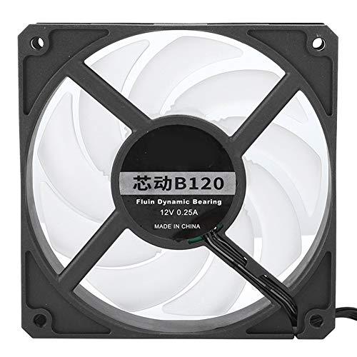 Ventilador de refrigeración de CPU, 12V 2400RPM Ventilador de refrigeración ultra silencioso Radiador de chasis de enfriador de CPU para computadora de escritorio, cojinete dinámico fluido(negro)