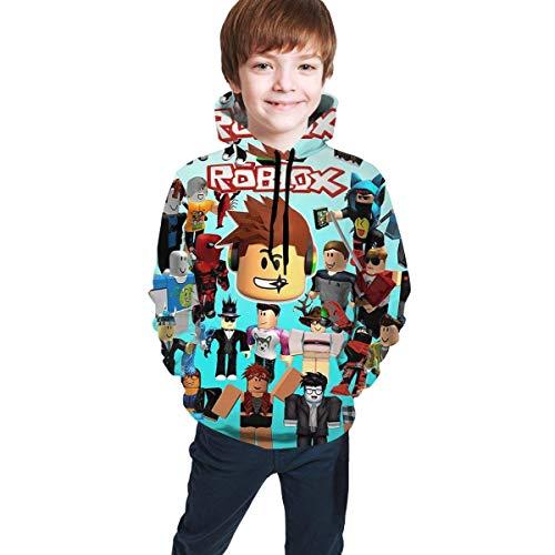 maichengxuan Children's Hoodies Ro-blox 3D Print Unisex Pullover Hooded Sweatshirts for Boys Girls Teen Kid's
