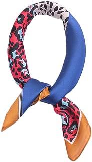 Happy-L New Tie Small Square Leopard Print Color Silk Scarf College Wind Cute Art Small Scarf (Color : 03)