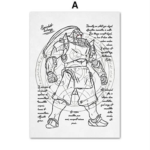 Kreative Cartoon Anime Lilo & Stitch Doctor Who Bioshock Roboter Wandkunst Leinwand Malerei Nordic Poster und Drucke Wandbilder Kinderzimmer Dekor 60 * 80cm