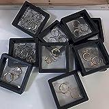 Jiahezi Estuche de exhibición flotante con monedas suspendidas, bonito estante...