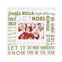 ピアヘッドファミリークリスマス記念フォトフレーム、4 x 6インチのホリデー写真を1つ表示、ホワイトフレームにゴールドテキスト、ホリデーに最適な装飾