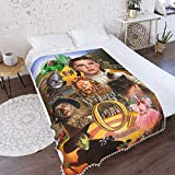 The Wizard of Oz Judy Garland Gifts Blanket Ultra Soft Cozy Light Anti-pilling Fleece Pompom Fringe Blanket Throw All Season Bedroom Bed And Sofa Fuzzy Blanket For Kids Adult Quilt Size 40'x30' inch