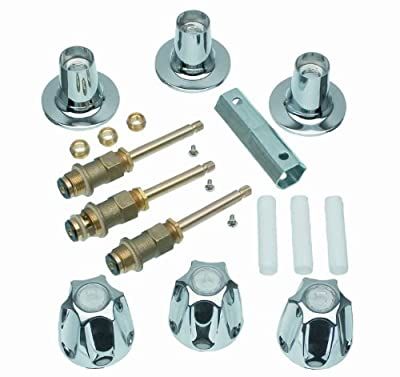 DANCO Bathtub and Shower 3-Handle Remodel/Rebuild Trim Kit for Price Pfister Verve Faucets | Knob Handle | 12H-2H, 12H-2C, 12H-18D | Chrome (39619)