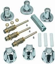 DANCO Bathtub and Shower 3-Handle Remodel/Rebuild Trim Kit for Price Pfister Verve Faucets | Knob Handle | 12H-2H, 12H-2C, 12H-18D | Chrome (39619)