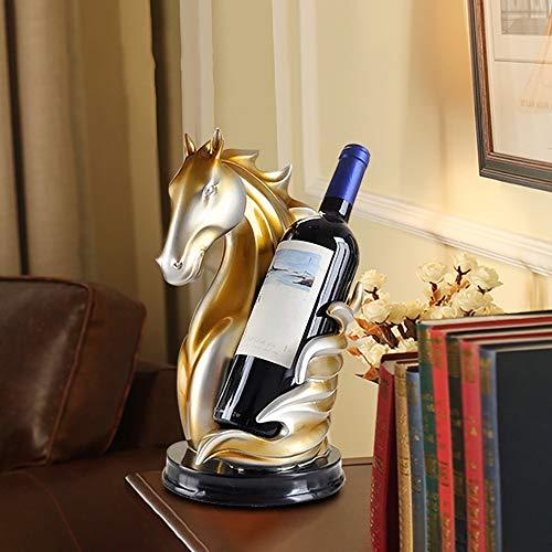 XFSE Decoración para el hogar Corcel europeo vino estante decoración gabinete TV gabinete salón decoración creativa decoración del hogar oficina artesanía 17 * 31 cm