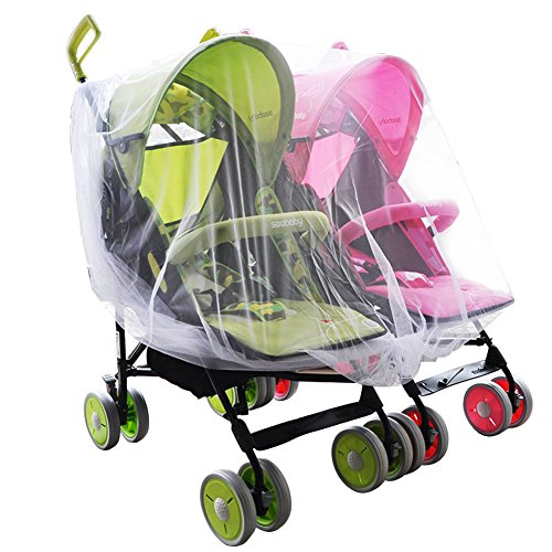 Aligle Twin Stroller nets Baby Mosquito Mesh Tandem Strollers Double and Car Seats …