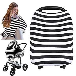 Cubierta para asiento de coche – Cubierta para asiento de coche KeaBabies – Manta de lactancia todo en 1 – Cubierta de asiento de bebé para niños, niñas – Funda para cochecito