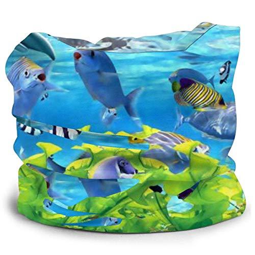 Dydan Tne Resumen 3D Peces Fondo de Acuario Sombreros Bufand