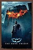 Trends International DC Comics Movie - The Dark Knight - Batman Logo on Fire One Sheet Wall Poster, 22.375' x 34', Mahogany Framed Version