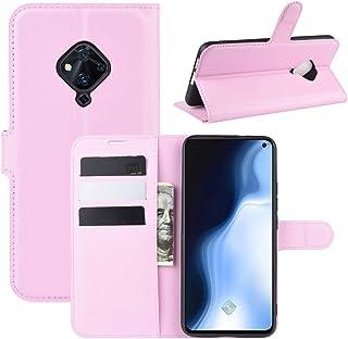 BFGTW ホルダーによるインビボS5ライチテクスチャ水平フリップ保護ケース&カードスロット&財布のために (色 : ピンク)