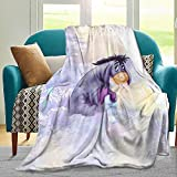 Eey-ore Blanket,Anime 3d Printed Throw Flannel Blanket,Fuzz Warm Throws,Sherpa Throw Blanket For Traveling Camping Home Bedding Living Room Lightweight Super Soft Cozy Bed Adults Children 50'X40'