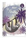 """Diario agenda scuola collegetimer """"Not today"""" 2019/2020 - Giornaliera - 352 pagine - 15x21 cm"""