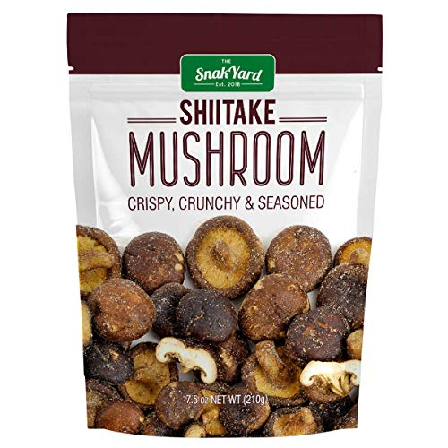 The Snak Yard Shiitake Mushroom 7.5 Oz Crispy Crunchy & Seasoned