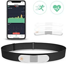 Wellue VisualBeat Bluetooth Heart Rate Monitor Chest Strap for Exercise with Alarm, ANT+ Waterproof Fitness Tracker, Wireless Wearable EKG/ECG Monitor Recorder HRM