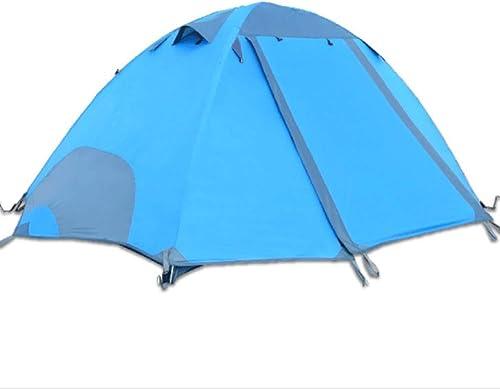 WYGRACE 2 Personne Tente ExtéRieure Double Couche en Aluminium Pluie ImperméAble TempêTe De Pluie Multi-Personne Camping en Bord De Mer Camping