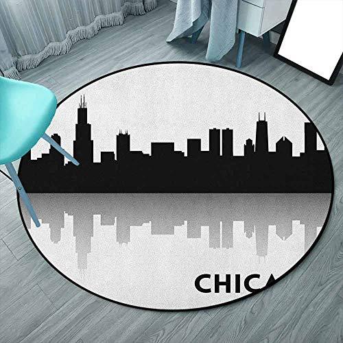 Chevron Perfect Alfombra de cocina azul y blanco, estilo acuarela Chevron con formas auténticas minimalistas y ángulos constantes impresos, para el hogar y la oficina 6'3