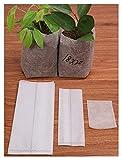 100 bolsas biodegradables no tejidas para guardería, bolsas de cultivo de plantas, bolsas de tela, macetas de siembra ecológicas (color: 11 x 14 cm)