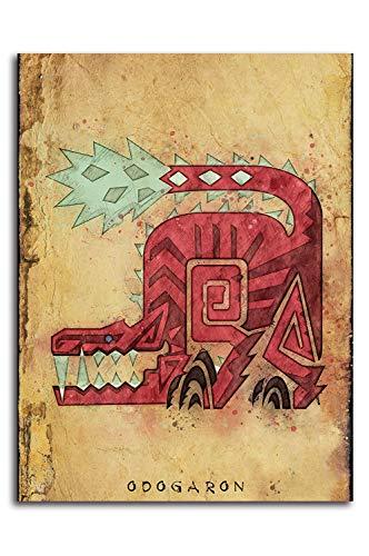 ARYAGO Monster Hunter World - Cuadro decorativo para pared (50,8 x 71,1 cm), diseño de Odogaron Hunter Notes
