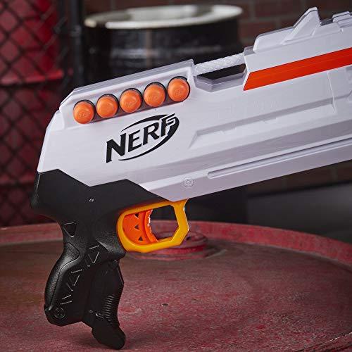NERF Ultra Three Blaster, Pump-Action, 8-Dart Internal Clip, 8 Ultra Darts, Compatible Only Ultra Darts