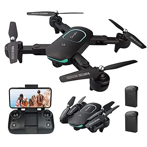 Gleamydot JY01 1080P Drone con Telecamera HD FPV, Un Pulsante di Decollo  Atterraggio, modalità Senza Testa, G-Sensore, Volo Circolare, 3D Flip, Funzione di Hovering, Adatto ai Principianti (black)