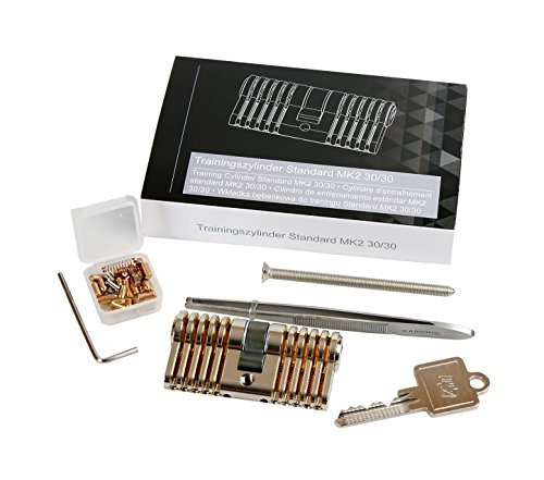 Variables Übungsschloss Super Set Profi 5 Stifte Trainingsschloss zum Lockpicking Set made in Germany Original Multipick inkl. Pinning-Kit und Stiftpinzette