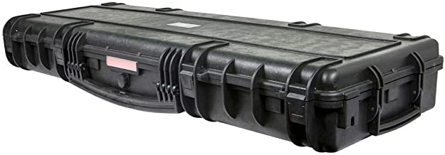 Monoprice Weatherproof/Shockproof Hard Case with Wheels - Black IP67 Level dust and Water Protection up to 1 Meter Depth with Customizable Foam, 47