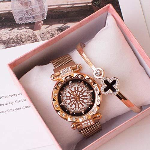 DSGTR Hermosas Damas Reloj de Cuarzo Moda Damas Reloj cintur