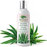 Amazing Aloe Vera Facial Cleanser for Women - Pure Natural Ingredients - Use before Moisturizer to Cleanse, Soothe and Purify - Your Anti-Aging Face Wash from Green Leaf Naturals - 8 oz