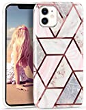 Imikoko iPhone 11 Case for Women Girls Glitter Marble