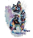 Kit de broderie point de croix Chat et couleurs - 220 x 296 points -...