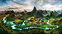 Pジグソーパズル1000ピース大人のパズルウッドギリン風景教育ゲーム 子供のための脳チャレンジパズル子供