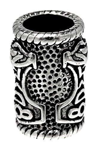 Kiss of Leather Bartperle Lockenperle aus Edelstahl, Design Thorshammer 5mm