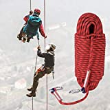DAUERHAFT Durable Portátil Robusto 30 m Seguridad Cuerda de Supervivencia Cuerda Cuerda de Escalada...
