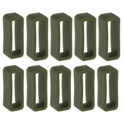 sharprepublic 10 Piezas Reloj Correa Aro Bucle Retenedor De Goma 22mm - Verde Oscuro, 22 mm