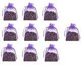10 pz fiore di lavanda secca 5 g Satchel sacchetti in organza - Cozy sacchetto bustine riempito con lavanda secca Buds - naturale profumo fragranza per aromatherapy-car-closet-drawers-moths-wardrobe