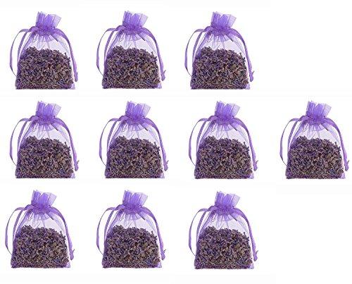 10 pcs multicouleur , violet ou blanc Lavande sec Fleur 9 g pochette Sacs organza sachets remplis de lavande bio Provence séchée Buds bio 90g total Pour Aromatherapy-car-closet-drawers-moths-wardrobe