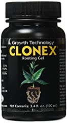 Clonex is a high performance, water-based, rooting gel It is a tenacious gel which will remain in contact around the stem, sealing the cut tissue and supplying the hormones needed to promote root cell development and vitamins to protect the delicate ...