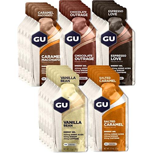GU Energy Original Sports Nutrition Energy Gel, 24-Count, Assorted Indulgent Flavors