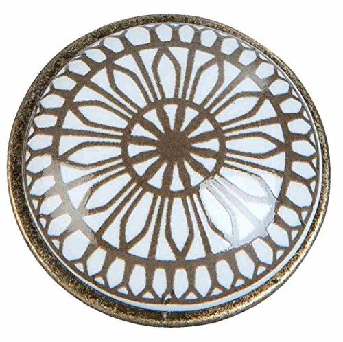 Clayre & Eef 63421 Poignée de Porte pour Meuble Ø 2 x 2 cm