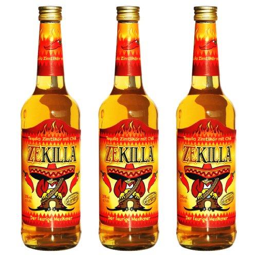 Zekilla - Original Tequila mit Zimt und Chili (3 x 0,7l)