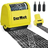 EverMark Identity Protection Roller Stamp, Confidential Roller Stamp Identity Theft Prevention Security Stamp, Perfect for Data Privacy ID Protection and Address Blocker - 2 pcs Redacting Marker
